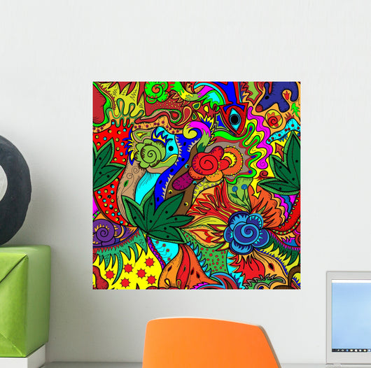 Trippy Multicolor Abstract Wall Mural