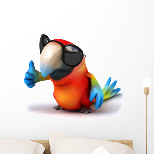 Fun Parrot Wall Decal