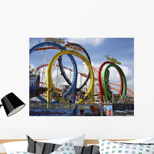 Roller Coaster Wall Mural