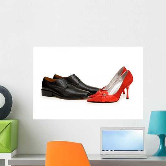 Black and Red Shoes Wall Decal