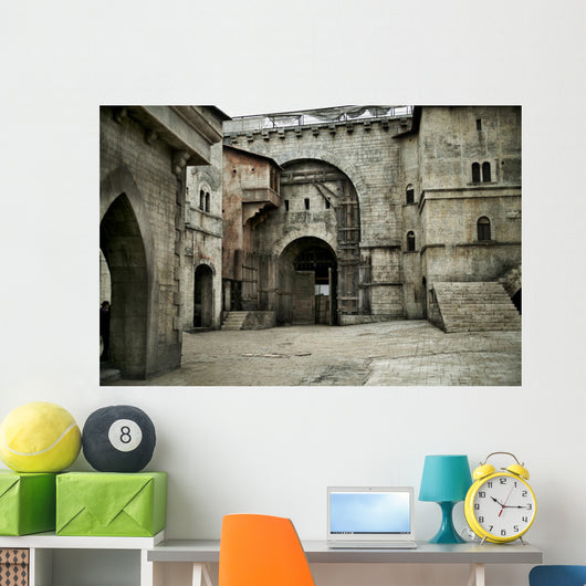 Medieval castle in european city Wall Mural