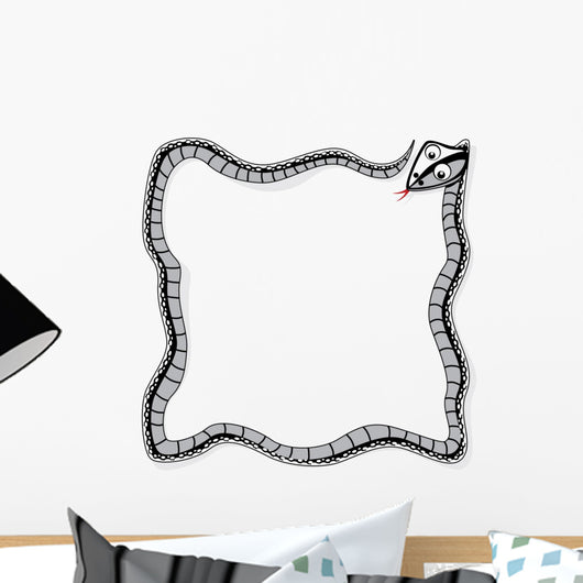 Square Snake Border Wall Decal