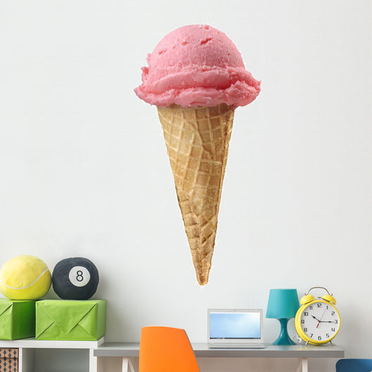 strawberry ice cream Wall Decal