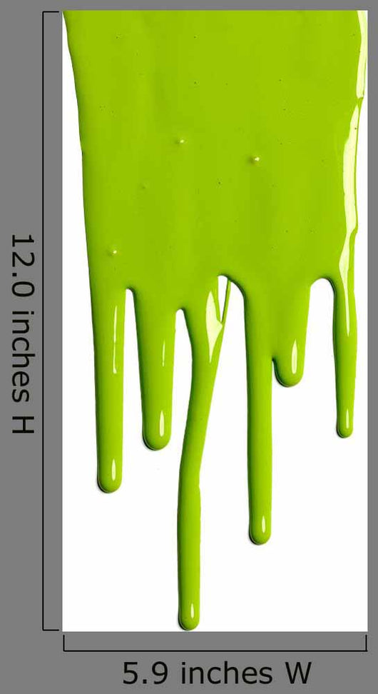 Green Dripping Paint