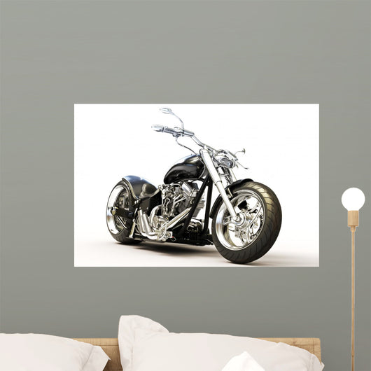 Motorcycle White Wall Decal