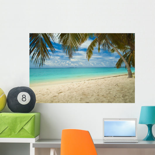 Empty Tropical Beach with Wall Mural