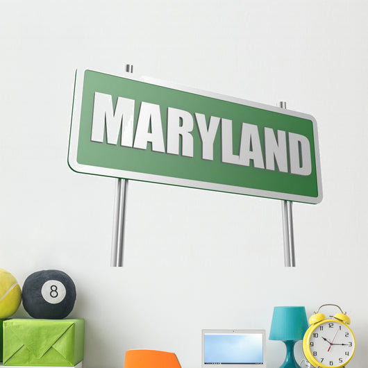 Maryland sign board Wall Decal