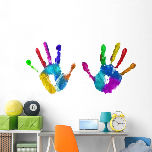multicolor hands print Wall Decal