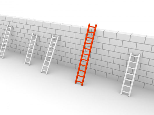 Several Ladders with Different Wall Decal