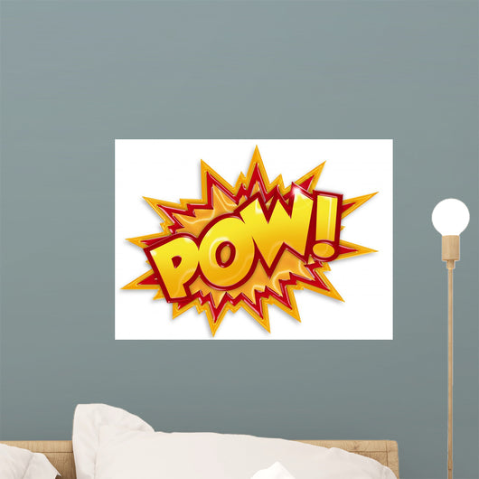 cartoon pow Wall Decal