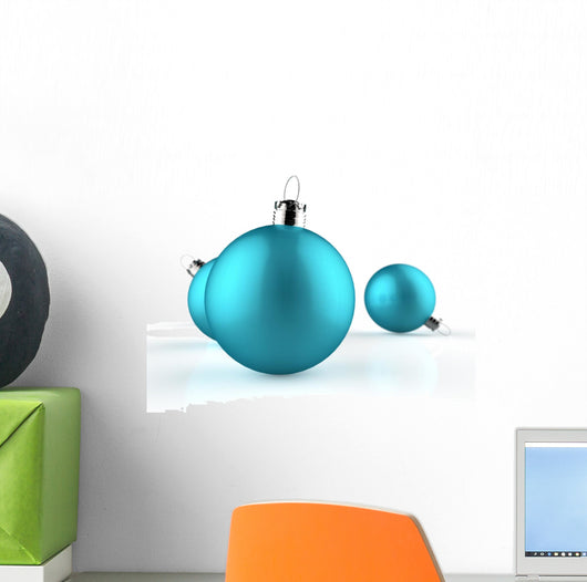 Blue Christmas baubles Wall Decal