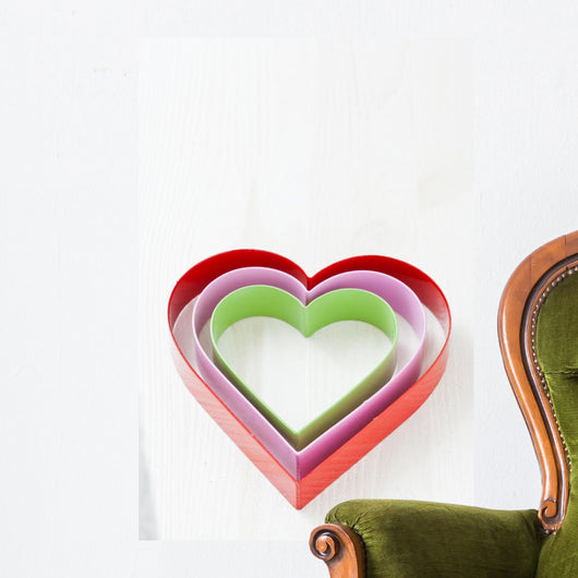 Colorful heart shapes Wall Decal