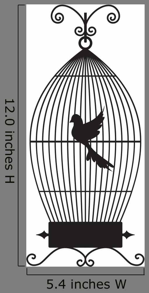 Bird Cage Wall Decal