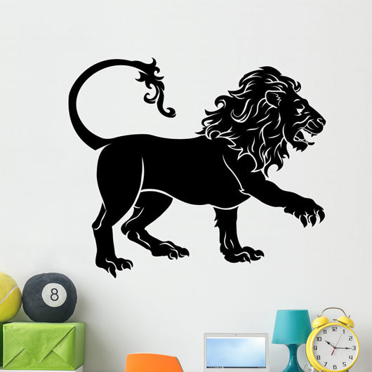 Stylised Lion illustration Wall Decal