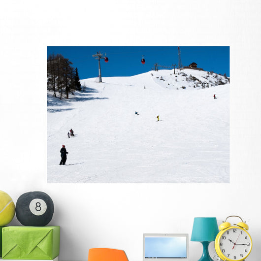 Skiing Area Alps Wall Mural