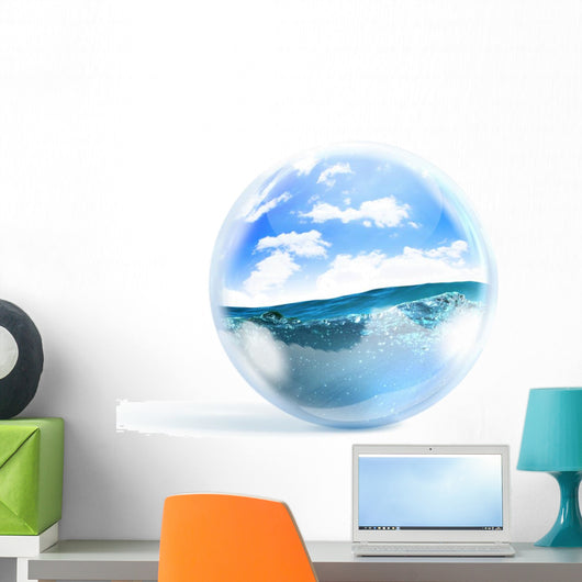 blue ocean wave Wall Decal