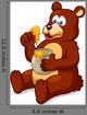 Illustration of Bear Eating Honey Vector Wall Decal