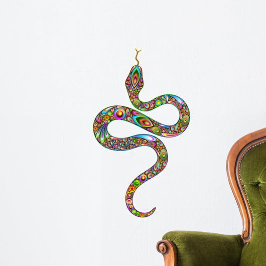 Beautiful Psychedelic Snake Wall Decal