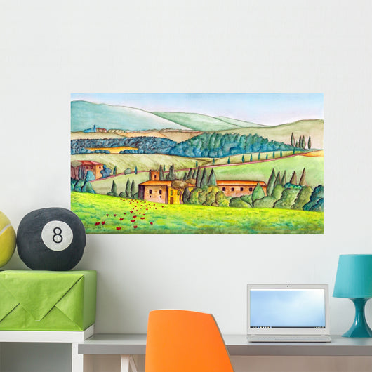 Country Landscape Wall Mural
