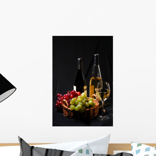 wine and grapes Wall Mural