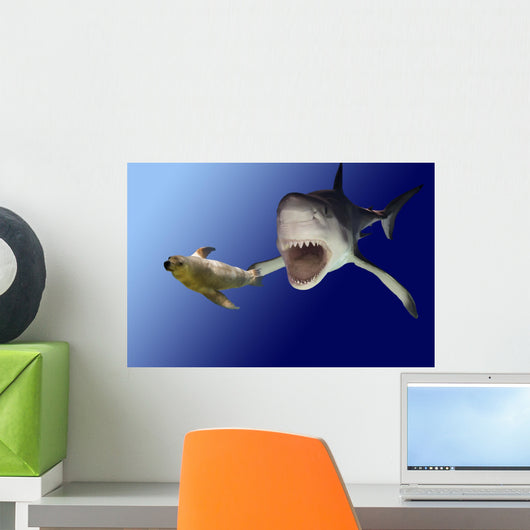 sharkattack Wall Mural