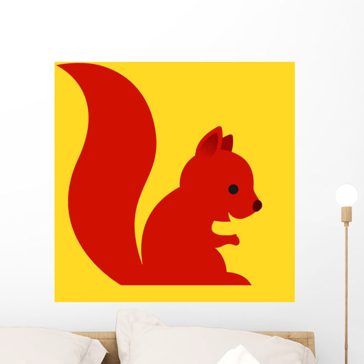 Happy Little Red Cartoon Wall Mural