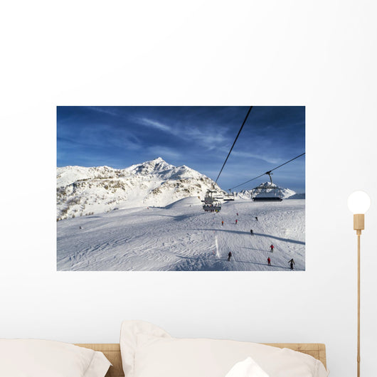 Ski Track with Chair Wall Mural