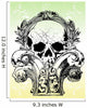Gothic  skulls illustration Wall Mural