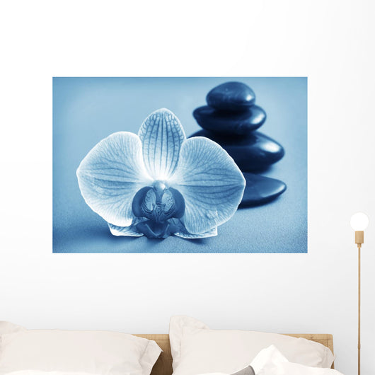 Orchid and Black Basalt Wall Mural