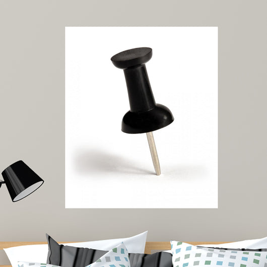 Black Push-Pin Wall Decal