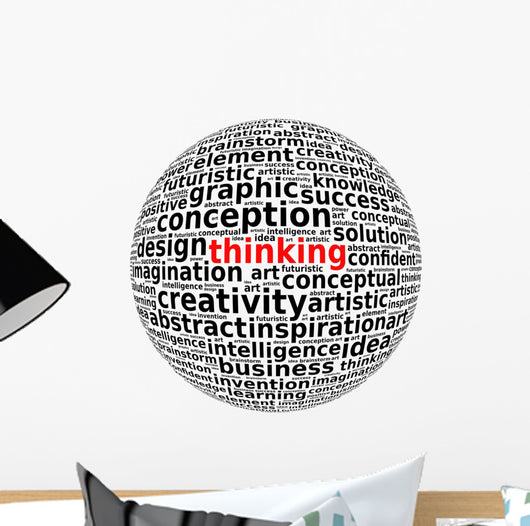 Creative Thinking Info-text Word Wall Decal