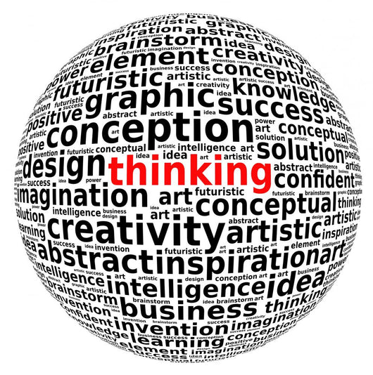 creative thinking info-text word arrangement Wall Decal