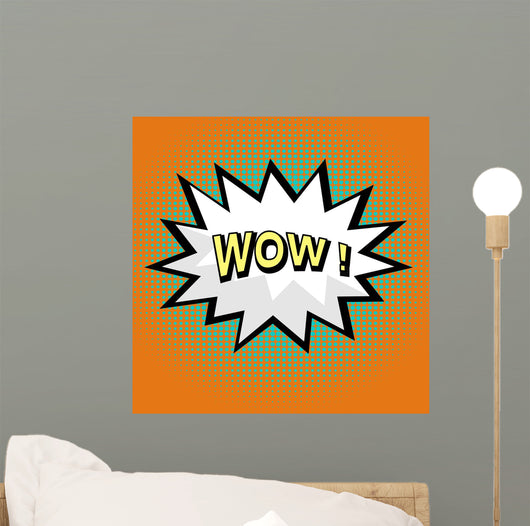 Wow! comic speech bubble in pop art style Wall Mural
