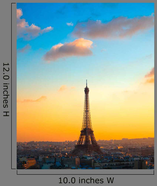 Eiffel tower at sunrise, Paris. Wall Mural