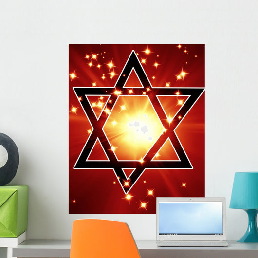 Star David Wall Decal