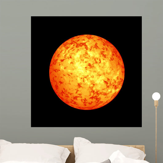 Sun in outer space Wall Mural