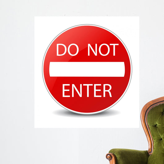 Do Not Enter Warning Sign Wall Decal