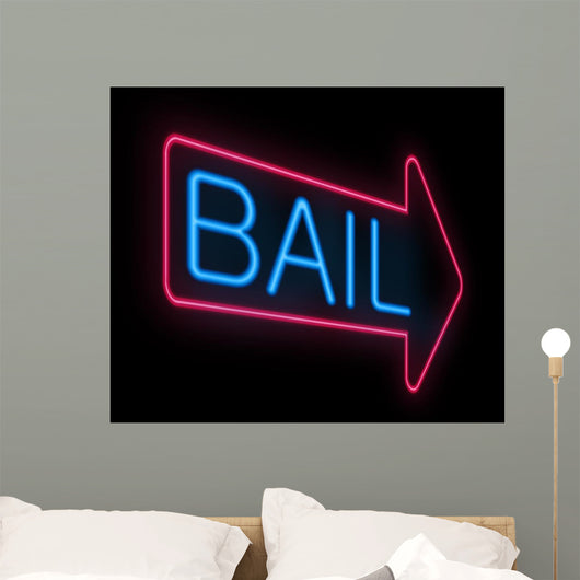 Bail Sign Wall Mural