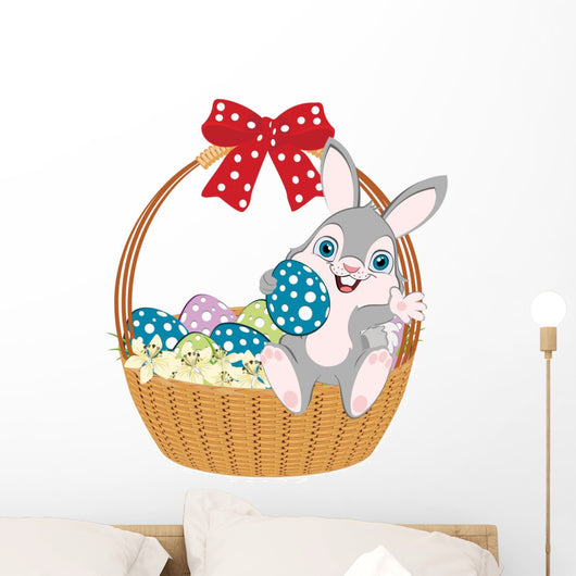 Easter Basket Bunny Wall Decal