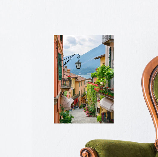 Picturesque Small Town Street View Wall Mural