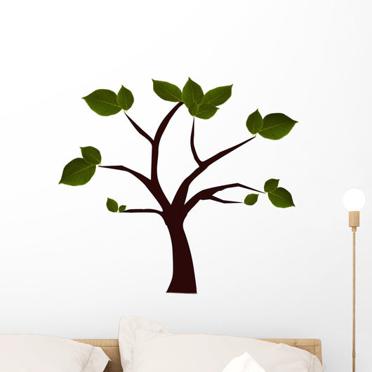 isolated tree with green leaves Wall Decal