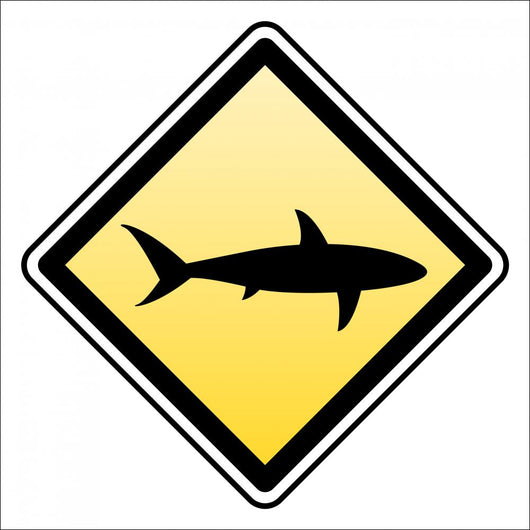 warning shark attack! Wall Decal