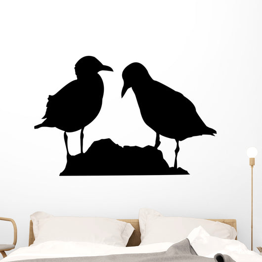 Seagull silhouette vector Wall Decal