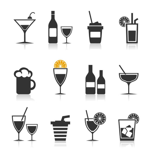 Alcohol an icon Wall Decal