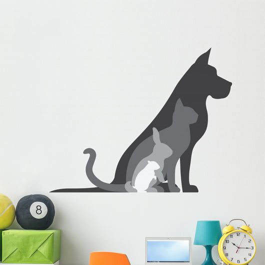 Animal Silhouettes Composition Wall Decal