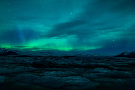 Northern Lights above Lagoon