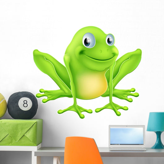 Cartoon frog character Wall Decal
