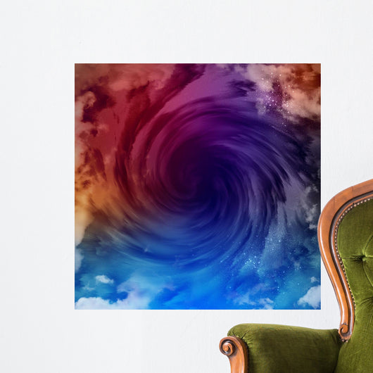 Cosmic clouds of mist Wall Mural