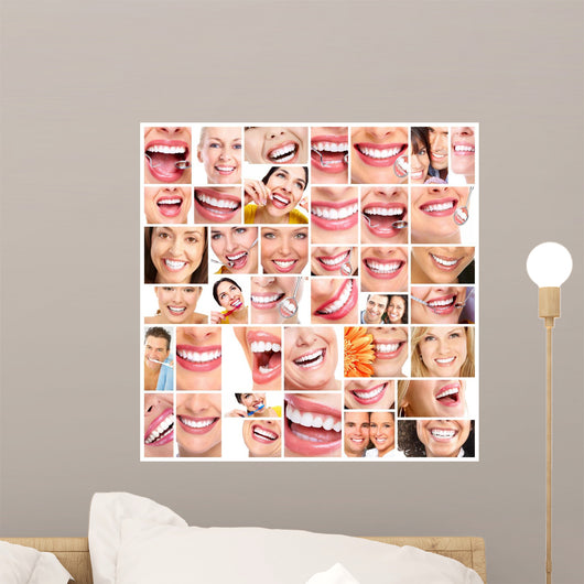 Beautiful Woman Smile Wall Mural