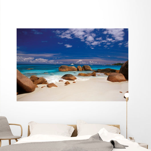 boulders in the sand Wall Mural